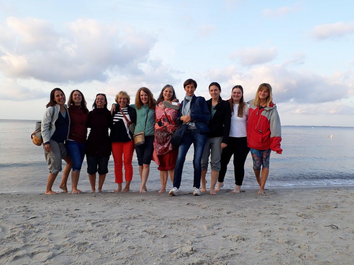 Ausbildungsteilnehmerinnen Beckenboden-Yoga 2021